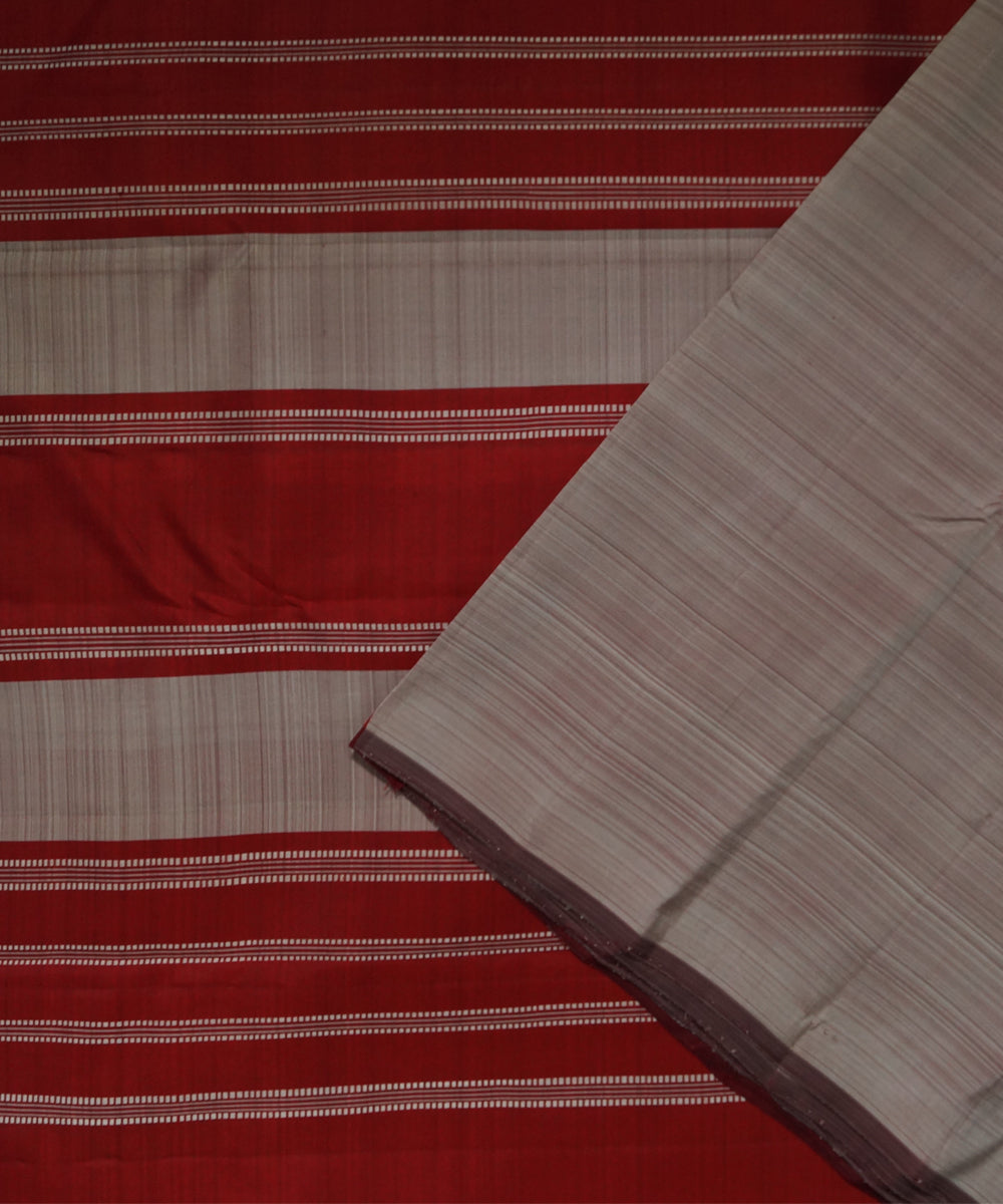 Grey Maroon Handloom Arni Silk Saree