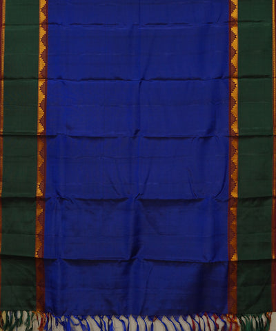 Navy, Maroon, Green Handwoven Arni Silk Saree