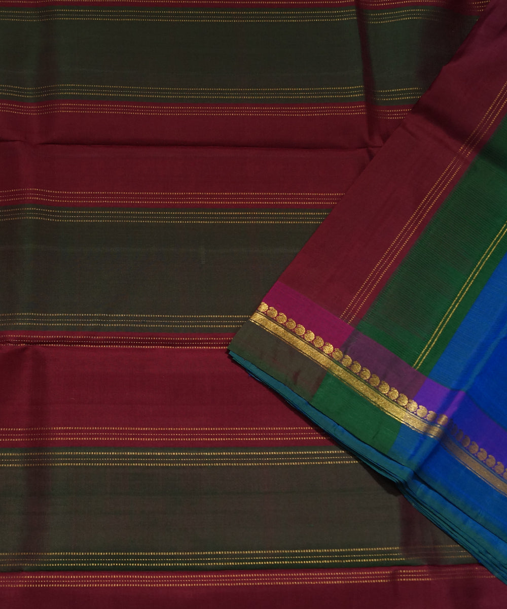 Dark Blue Handwoven Arni Silk Saree