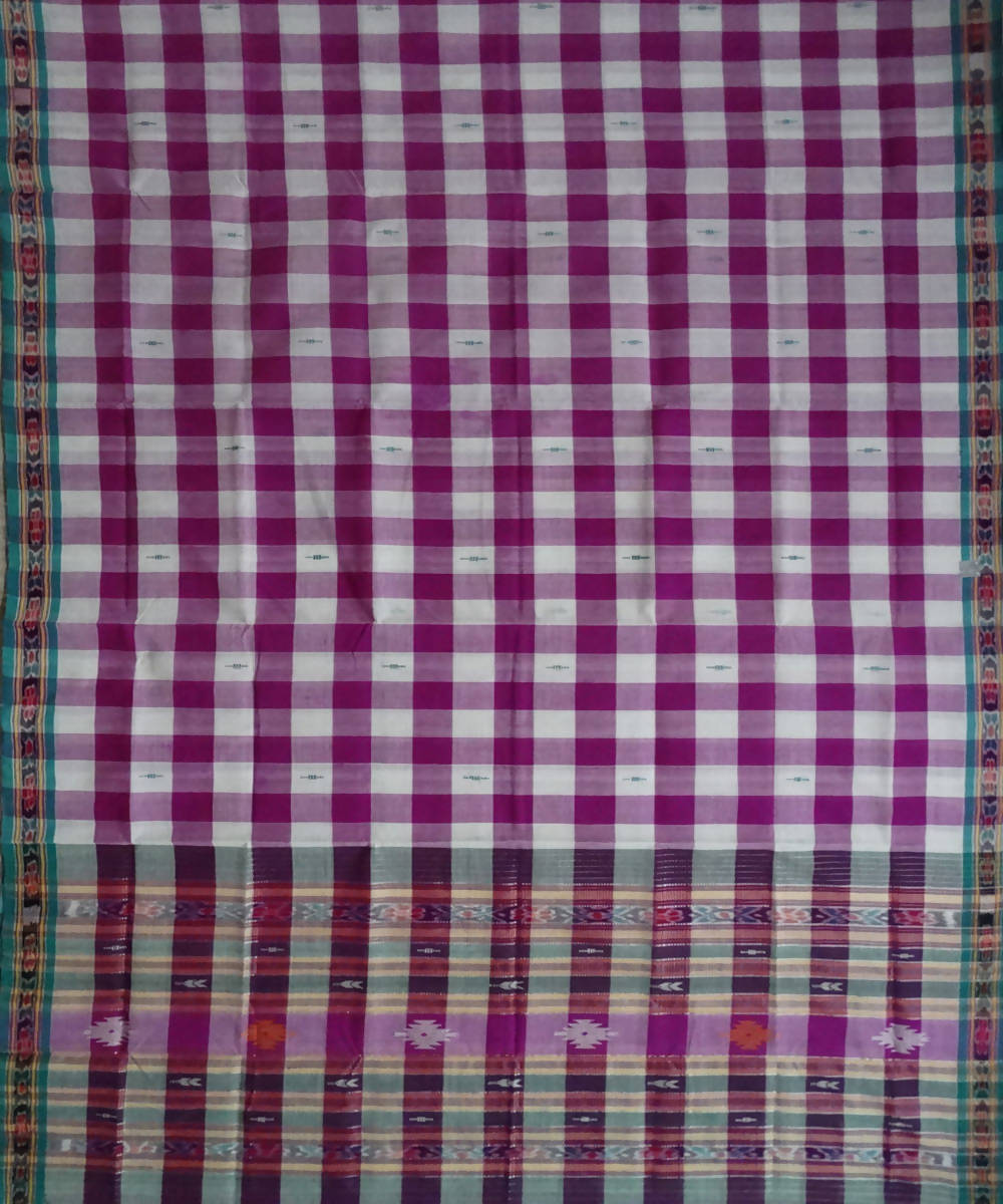 Multicolour Berhampuri Cotton Handloom Saree