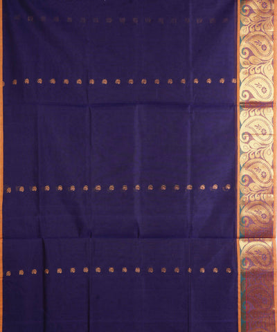 Handloom Navy Blue Venkatagiri Cotton Saree