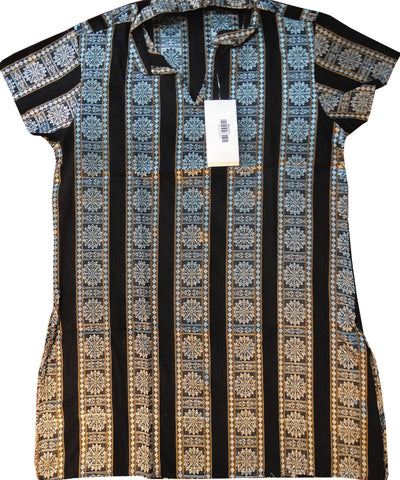 Black Traditional Cotton Ladies Kurti