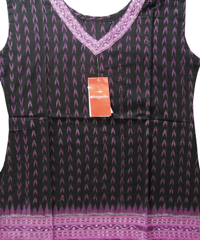 Black and Purple Cotton Ladies Kurti