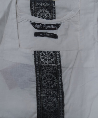 White Nuapatna Cotton Ladies Kurti