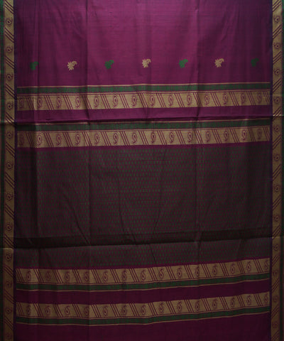 Magenta Handloom Paramakudi Cotton Saree