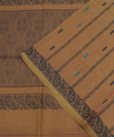 Brown Handloom Paramakudi Cotton Saree