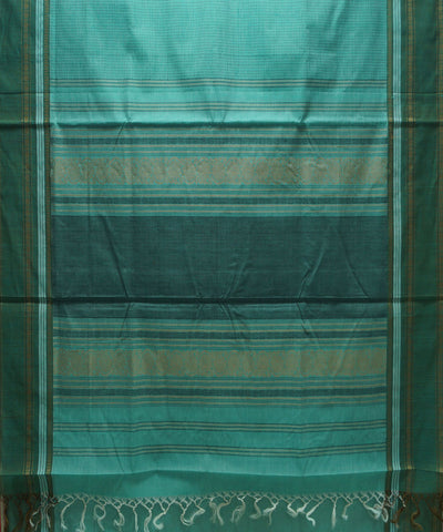 Loom World Green Handwoven Paramakudi Cotton Saree