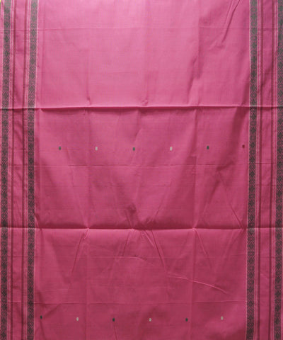 Loom World Pink Handwoven Paramakudi Cotton Saree