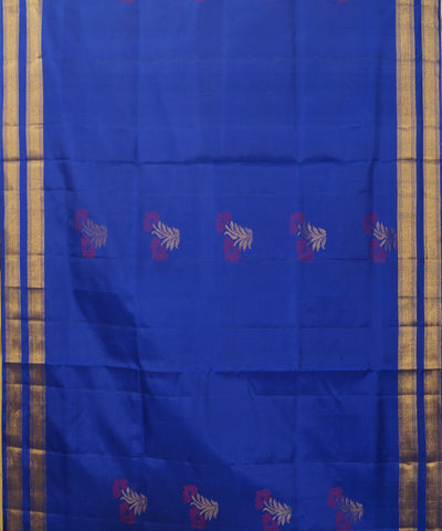 Blue Pink Purple Handloom Soft Silk Saree