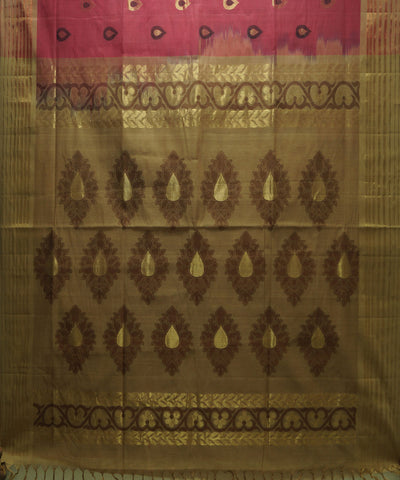 Handloom Pink Vadambacherry Saree