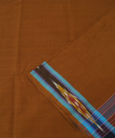 Tie and Dye Cotton Saree in Light Brown
