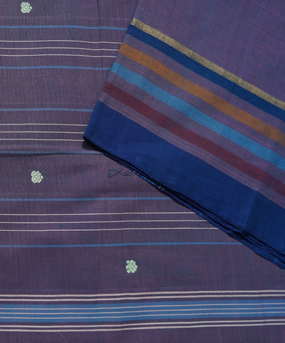 Dark Purple Handwoven Aruppukottai Saree