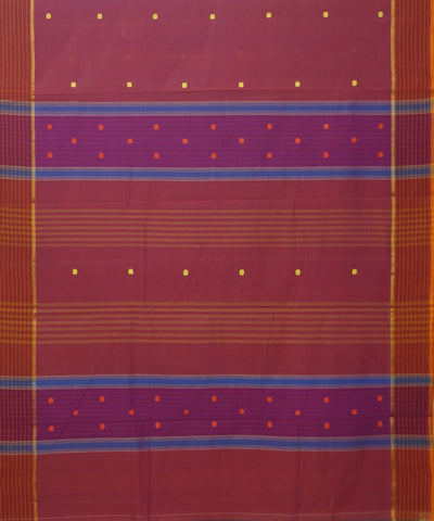 Peach Pink Handwoven Aruppukottai Cotton Saree