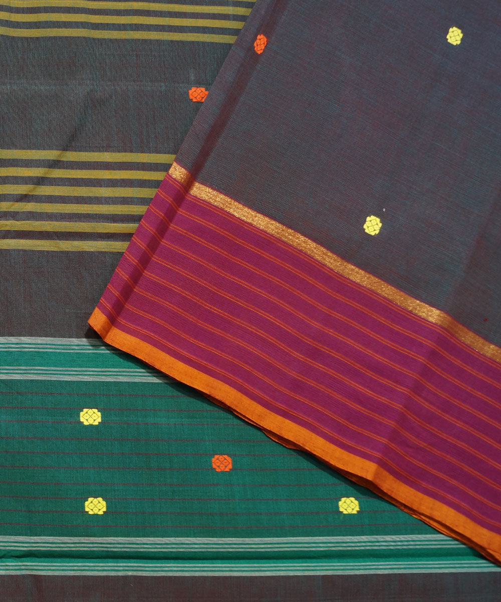 Double Shade Handwoven Aruppukottai Saree