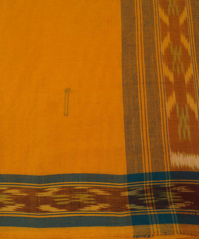 Tie Dye Cotton Saree in Bright Yellow
