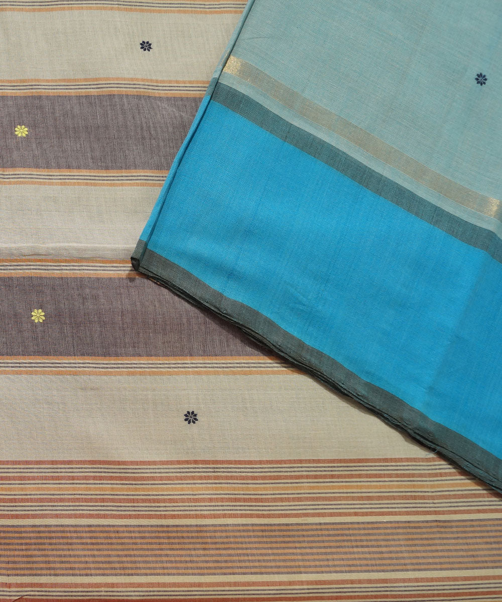 Light blue Handloom Aruppukottai Cotton Saree