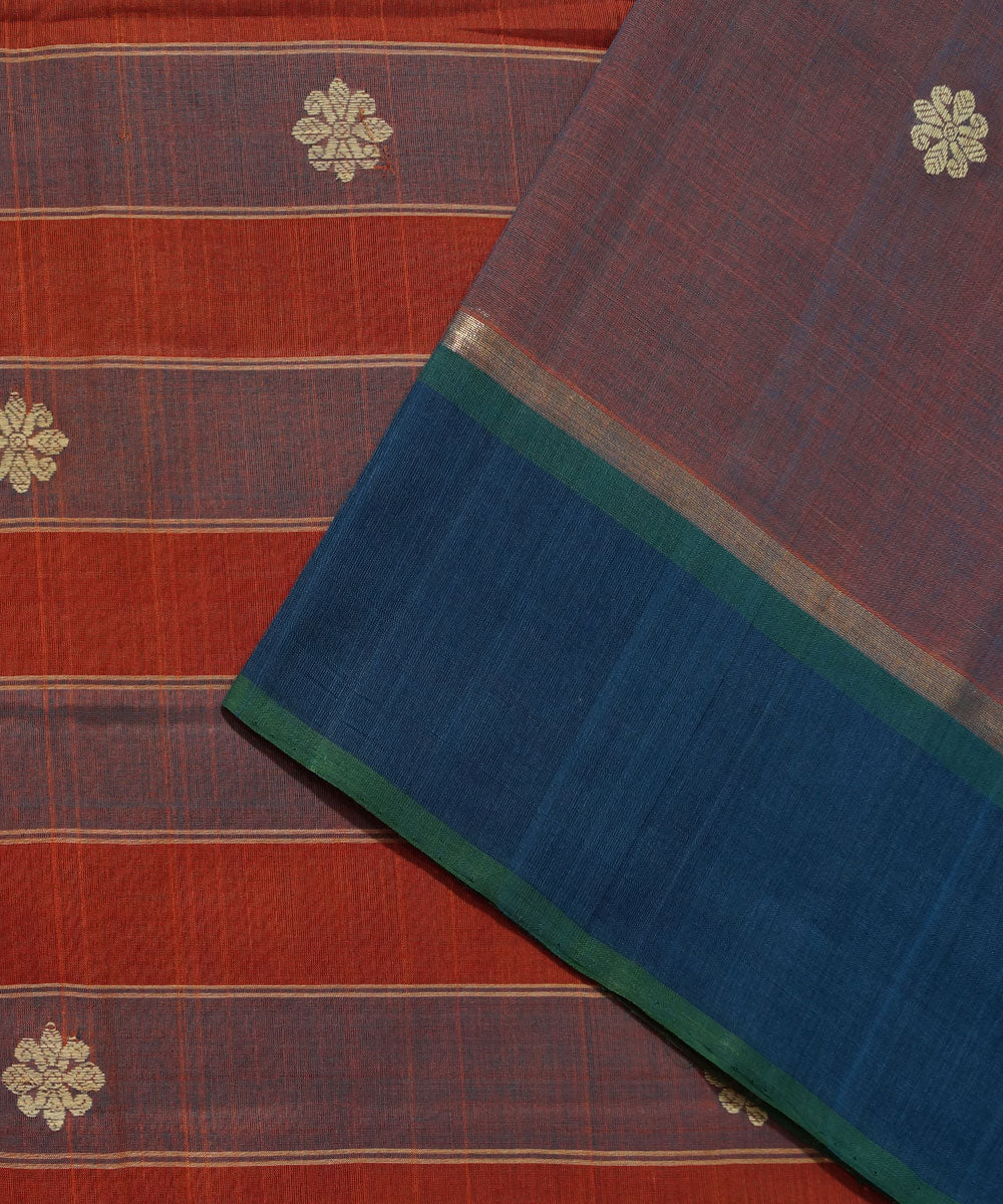 Handwoven Double Shade Aruppukottai Saree