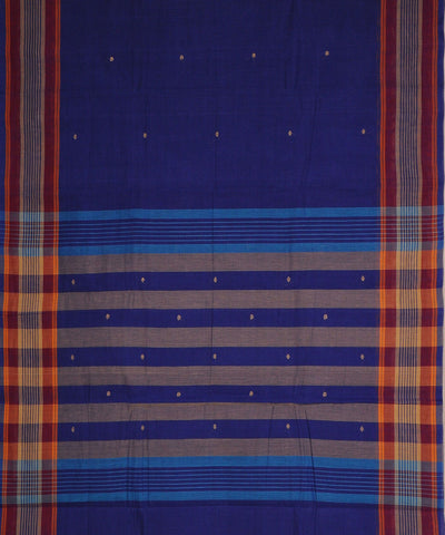 Blue Purple Handwoven Aruppukottai Saree