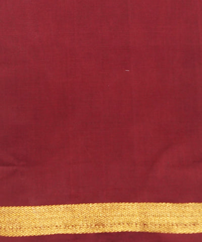 Orange Red Handloom Aruppukottai Cotton Saree