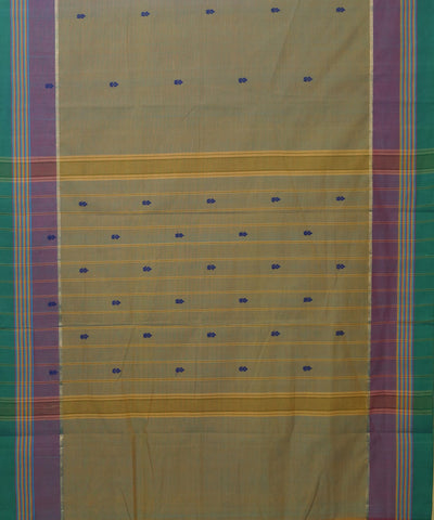 Yellow Brown Handloom Aruppukottai Saree