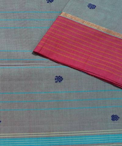 Grey Handwoven Aruppukottai Cotton Saree