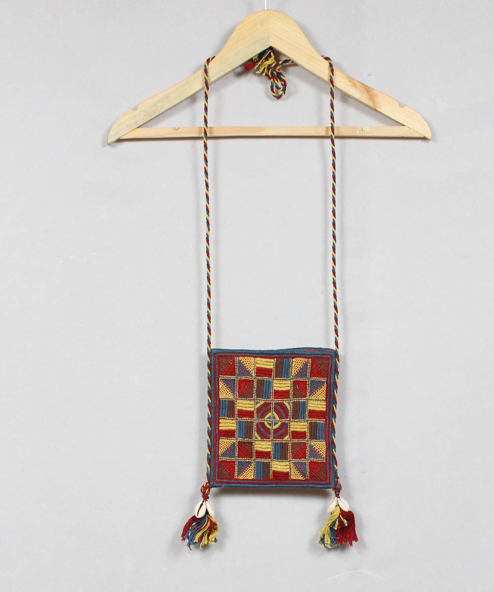 Multi Colour Lambani Embroidery Sling Bag