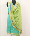 Maheshwari Green Lime Dress Material