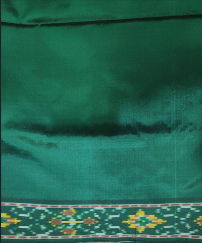 Turquoise and green handloom pochampally ikat silk saree
