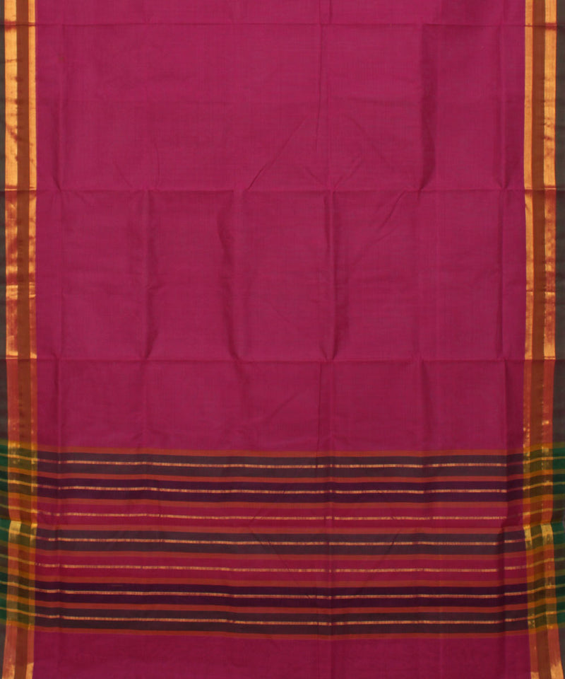 Pink Madhavaram Handwoven Cotton Saree