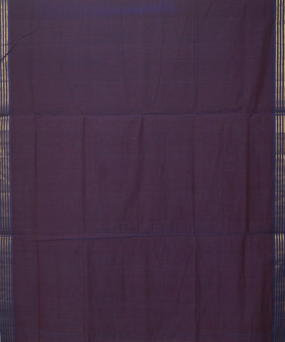 Manamedu Purple Cotton Handwoven Saree