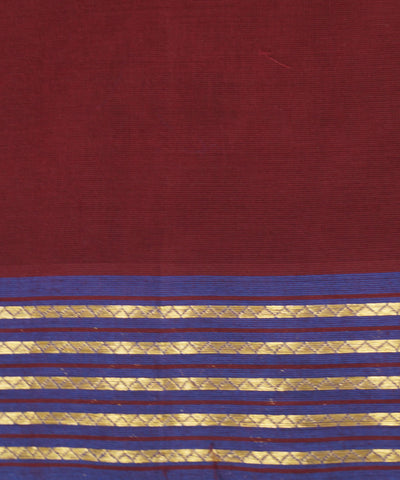 Manamedu Maroon Cotton Handloom Saree
