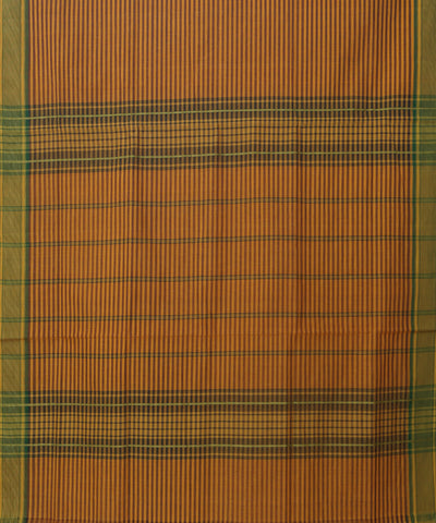 Manamedu Yellow Striped Cotton Handwoven Saree