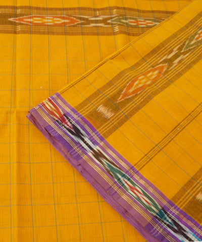 Manamedu Cotton Yellow Handwoven Saree