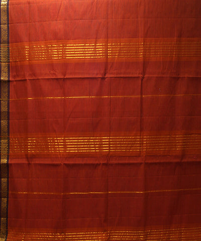 Loom World Red Handwoven Manamedu Cotton Saree