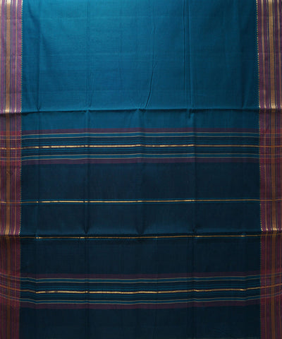 Blue Handloom Manamedu Cotton Saree
