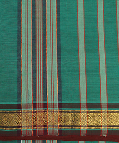 Green Handloom Manamedu Cotton Saree