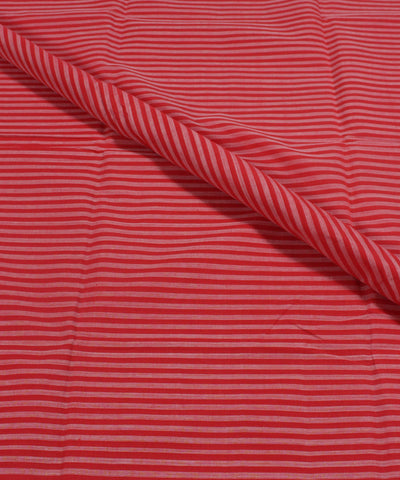 Handwoven Red and White Checks Mangalagiri Cotton Fabric