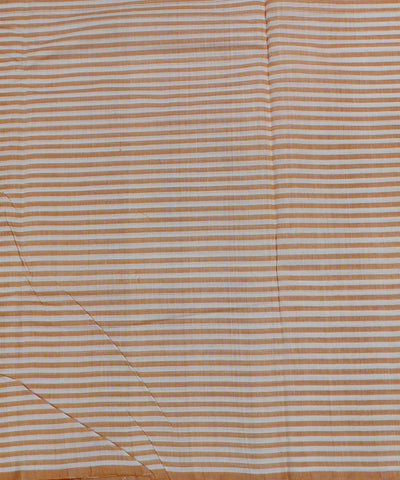 Handloom Orange Mangalgiri Cotton Fabric