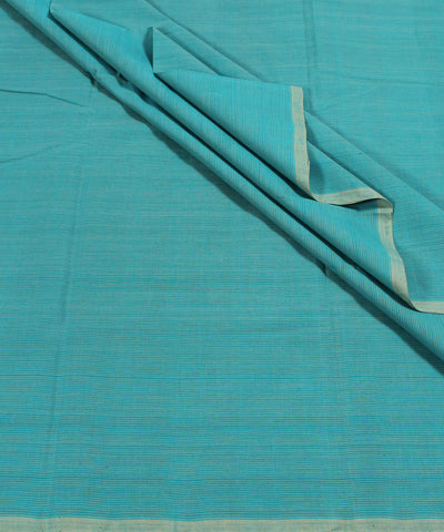 Handloom Blue Yellow Stripe Mangalgiri Fabric