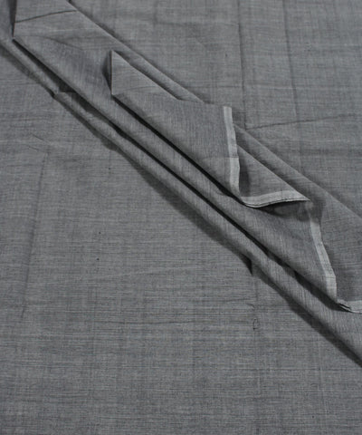 Handwoven Grey Mangalagiri Cotton Fabric