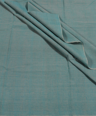 Handwoven Blue and Grey Double Shaded Mangalagiri Cotton Fabric