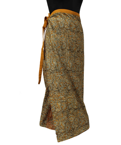 Kalamkari Straight Wraparound Handwoven Skirt