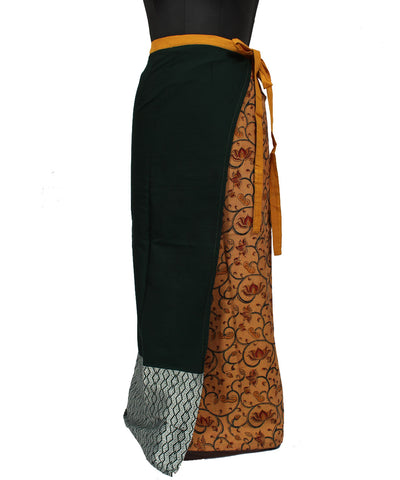 Floral Straight Wraparound Handwoven Skirt