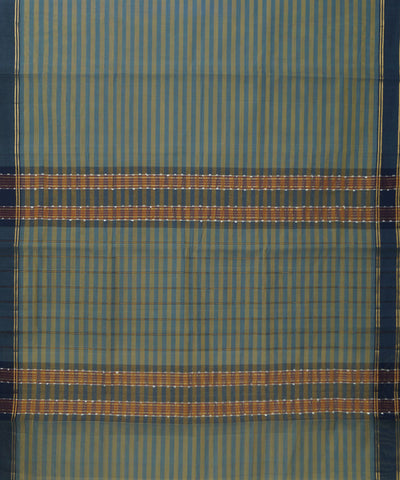 Blue Yellow Manamedu Handloom Cotton Saree