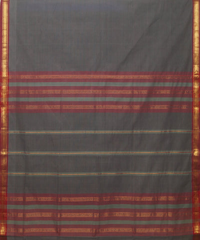 Manamedu Grey Handloom Cotton Saree