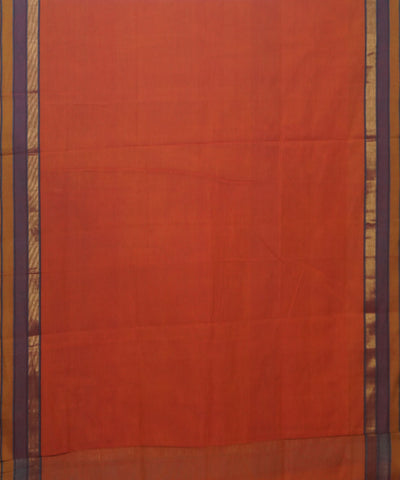 Manamedu Orange Handloom Cotton Saree
