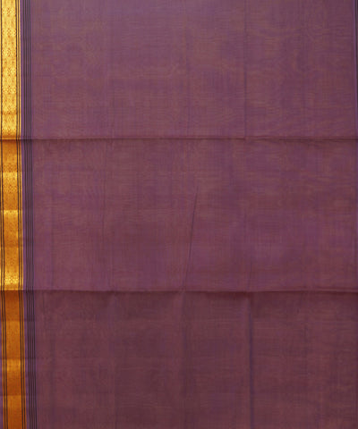 Purple Manamedu Handloom Cotton Saree