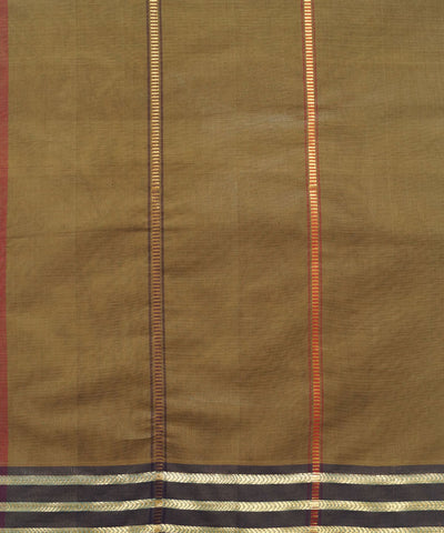 Manamedu Brown Handloom Cotton Saree