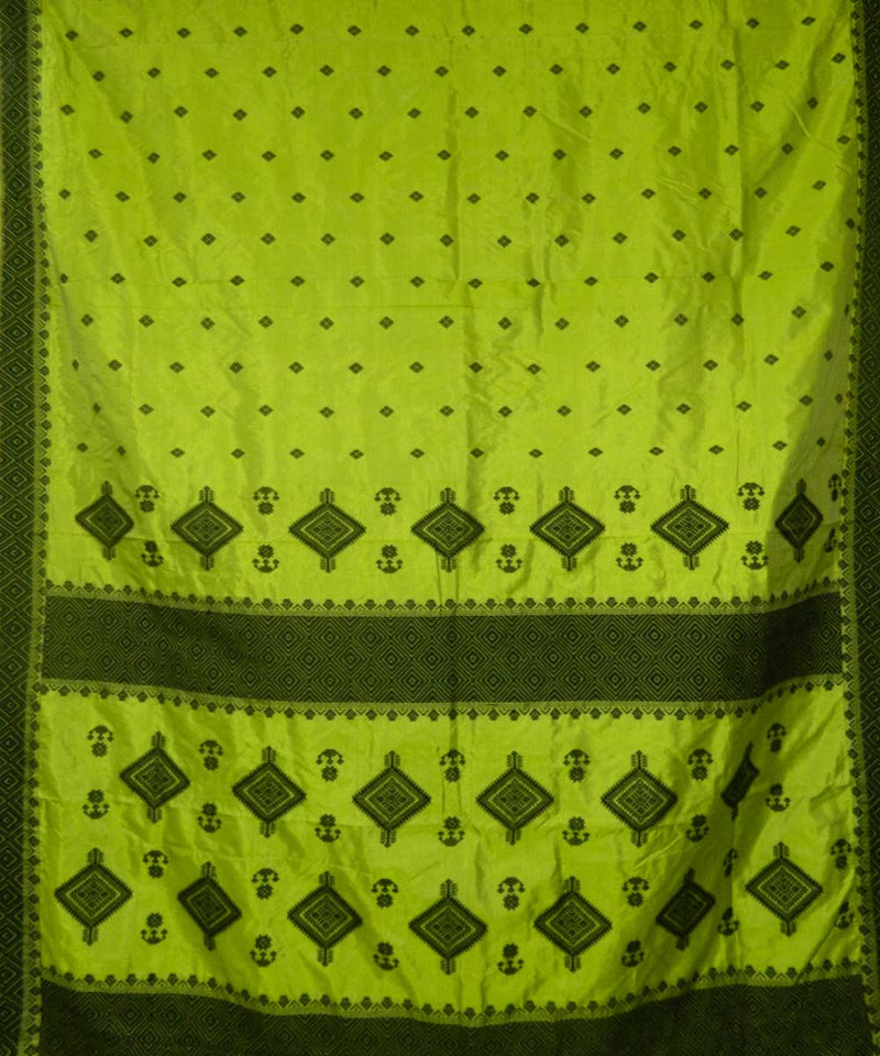 Light Green Handwoven Assam Silk Saree
