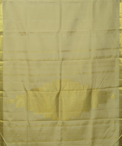 Cream Handloom Arni Silk Saree